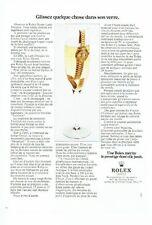 PUBLICITE ADVERTISING 017  1973  Rolex  montre Lady-Datejust 2