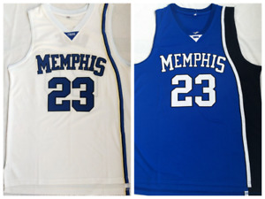 Retro #23 Derrick Rose Memphis Tiger Men's Basketball Jersey Double Stitched