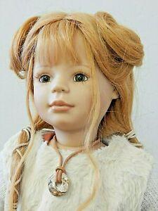 "Zapf Desiger Collection/Bettina Feigenspan 21"" Vinyl Doll w/Human Hair Wig"