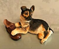 BORDER FINE ARTS  PUPPY TALES  610771 GERMAN SHEPHERD PUPPY DOG WITH BOOT
