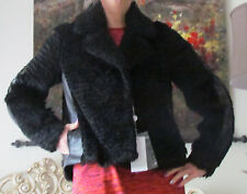 MAISON MARTIN MARGIELA Leather Parts,Mohair coat/jacket/parka IT 38,US 2-4,XS