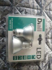 Diall GU10 LED Bulbs X2