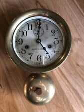 Vintage Brass Seth Thomas Maritime Ship Clock With Bell