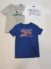 LOT OF 3 BOYS' POLO BY RALPH LAUREN SHORT SLEEVE SHIRTS, SIZE 7