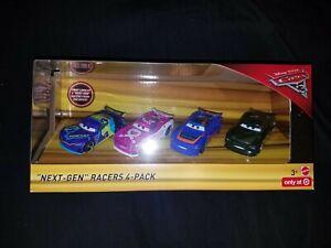 VHTF DISNEY PIXAR CARS 3 NEXT-GEN RACERS 4-PACK TARGET EXCLUSIVE