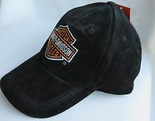 Harley Davidson NWT Antique Suede Distressed Leather Cap / One Size Fits All