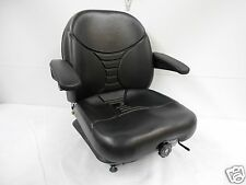 BLACK SUSPENSION SEAT,SCAG,HUSTLER,EXMARK,BOBCAT,BUNTON,DIXIE CHOPPER, ZTR #HE