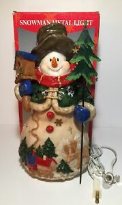 Snowman Metal Light Holiday Collection by Lincolnshire Christmas Decoration
