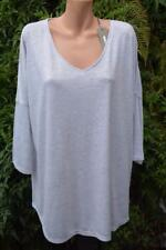 SUSSAN Silver Grey TOP SIZE XXL Stylish Rounded Hem NEW RRP$49.95 L/Sleeve