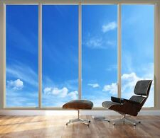 "Large Wall Mural - Clear Blue Sky Seen Through Sliding Glass Doors- 66""x96"""