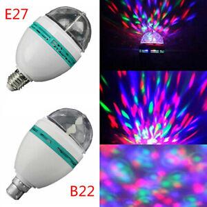 E27 B22 3W Colorful Rotating Stage RGB LED Light Bulb Xmas Party Disco DJ Lamp L