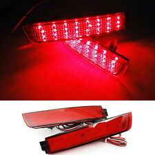 Red Lens Bumper Reflector LED Tail Brake Light For Juke Murano Quest Sentra FX35