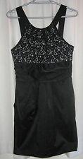 LADIES LACE DETAIL BLACK DRESS SIZE 10 by HOT OPTIONS