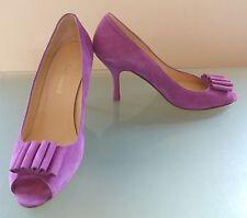 LK Bennett Mujer Zapatos 6 39 Lila Tacón Alto Stiletto ocasión Peep Toes