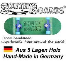 Komplett Holz Fingerskateboard GR/BL/BL SOUTHBOARDS® Handmade Wood Fingerboard