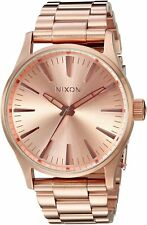 Nixon Men's Sentry 38 A450897-00 38mm Rose Gold Dial Stainless Steel Watch
