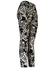 Brown Outline Paisley Ladies Footless Printed Leggings (L9050)