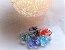 10 Glas Perlen - 20mm - Lampwork Perle - Herz - Schmuck herstellen - DIY