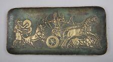 vide poche M le Verrier en bronze, belle patine, 28 Cm X 13 Cm