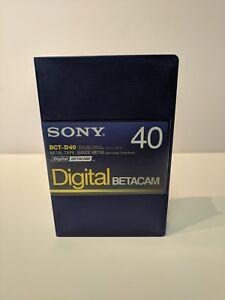Sony BCT-D40 40 Minute Digital Betacam Tape **New**