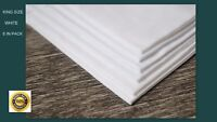 100% COTTON HANDKERCHIEFS LARGE MENS HANKIES 50 CM (20 INCH) WHITE KING SIZE