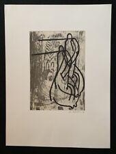 Markus Oehlen, Anglerinnen III, Radierung, 1988, handsigniert und datiert