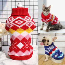 Pet Cat Sweater Winter Warm Small Dog Clothes Cat Outfit Costume Knitwear S-2XL