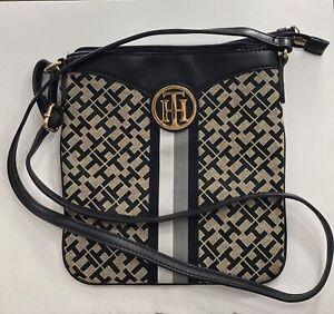 Tommy Hilfiger Cross Body Purse OR shoulder purse *ADJUSTABLE STRAP* Black & Tan