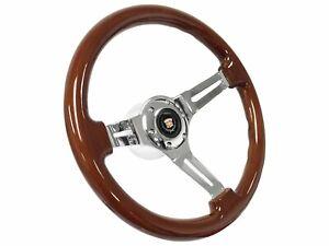 1969 - 1989 Cadillac S6 Sport Wood Steering Wheel Mahogany Telescopic Kit