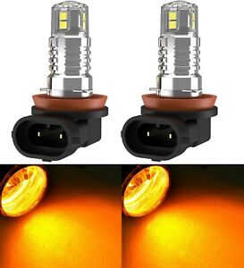 LED 20W H11 Amber Two Bulbs Fog Light Replacement Upgrade Stock Replace Halogen