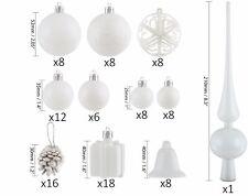 BRUBAKER 102 Pcs Shatterproof Christmas Ball Ornaments - 6 Colors - Tree Ornamen