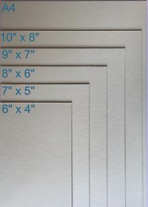 "4 x SELF ADHESIVE BOARDS IN SIX SIZES - A4 10x8"" 9x7"" 8x6"" 7x5"" 6x4"" - Sticky!"