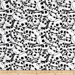 BTHY Disney Nightmare Before Christmas Jack Black Cotton Fabric By The Half Yard