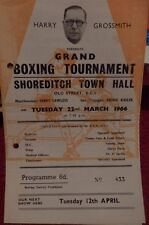 BOXING PROGRAMME - SHOREDITCH TOWN HALL - JIM MITCHELL V TERRY EDWARDS 1966