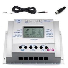 Sun YOBA 60A 12V/24V Solar Battery Charge Controller Regulator + 16.4ft Cable MT
