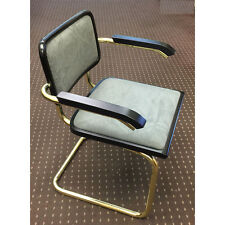 Breuer Arm Chair with Suede Seat & Back