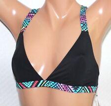 *NEW Sundazed Black Multi Gia Solid Strappy Bikini Swim Top Bra M Medium #S17