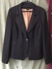 Women's Jacket, 16, Black, Gold Lined, Florence & Fred. Work,