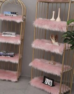 One Fluffy Quality Faux Fur Silky Seat Cushion Area Rug Carpet Chair Seat Pad