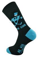 1 Pair of Mens Mr Cool Black Mr Men Novelty Fun Ankle Socks, Size 6-11