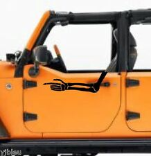 Jeep Skeleton Arm Mad Max decal sticker