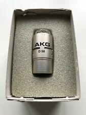 AKG Acoustics D58 Dynamic Microphone with original packaging and leaflet