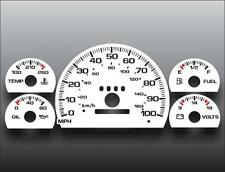 1995-1997 Chevrolet S-10 Blazer White Face Gauges 95-97