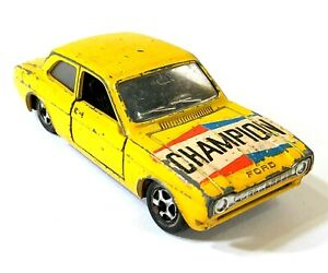 Mebetoys A 53 Mattel Ford Escort Yellow 1/43 Italy Vintage Toy Car Diecast M091