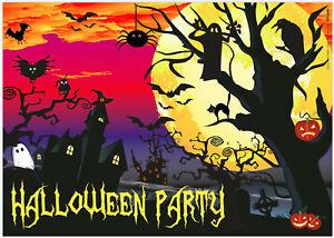 12 Halloween Party Einladungskarten gruselige schöne Karten im Set DIN A6