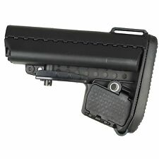 Mil Spec 6 Position Butt Stock Buttstock Black Carbine Pad and Battery Storage