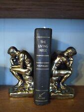 Vintage Thinking Man brass Bookend Set 1928