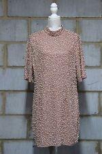 ASOS Women's Premium Pearl Scatter Mini Bodycon Dress UK 18 COLOUR IN NUDE