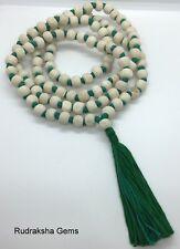 TULSI TULASI  BUDDHIST Fair Trade MANTRA BASIL KRISHNA MALA BEADS 108 MEDITATION