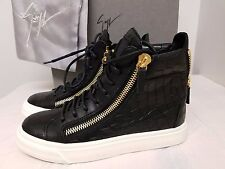 Giuseppe Zanotti Croc Emb. Leather Men's High Top Sneakers Size 42 5